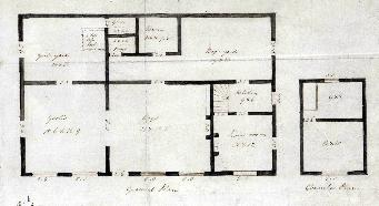 Westoning National School floor plans about 1840 [AD3865-47-2]